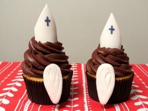 Nikolaus-Cupcakes