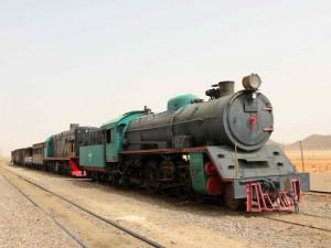 alter Zug im Wadi Rum